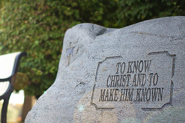 "Rock that says, ""to know Christ and to make him known"""