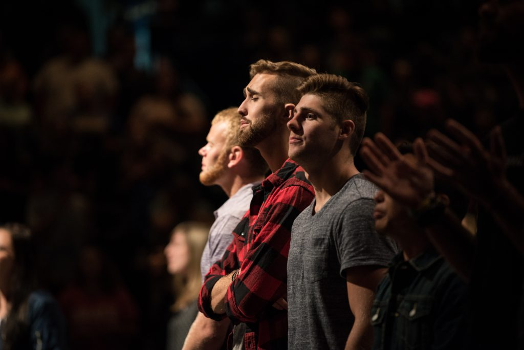 Students worshiping at Chapel.